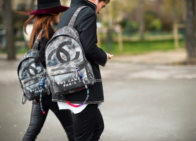 chanel graffiti backpack-After-Chanel-Paris-Fashion-Week-Fall-Winter-2014-street style-front row blog