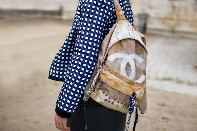 chanel graffiti backpack-street style-fashion-trends-bags-chanel-front row blog