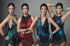 Во печатеното издание на Vogue излезе фотографија што Стивен Мајзел ја направи со манекенките, а на која носат фустани од Стела Макартни и алки од Алексис Битар