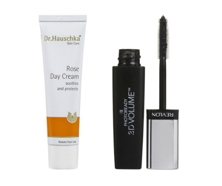 Dr Hauschka Rose Day Cream and Revlon PhotoReady 3D Volume Mascara