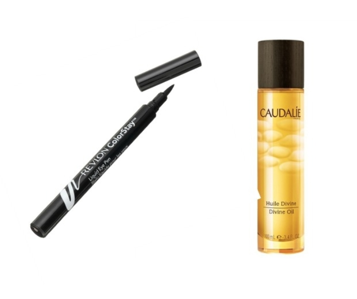 Revlon ColorStay Liquid Eye Pen and Caudalie Divine Oil