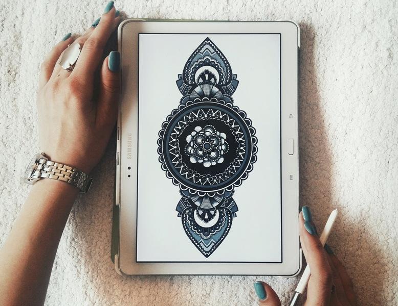 илустрација цртана на таблет