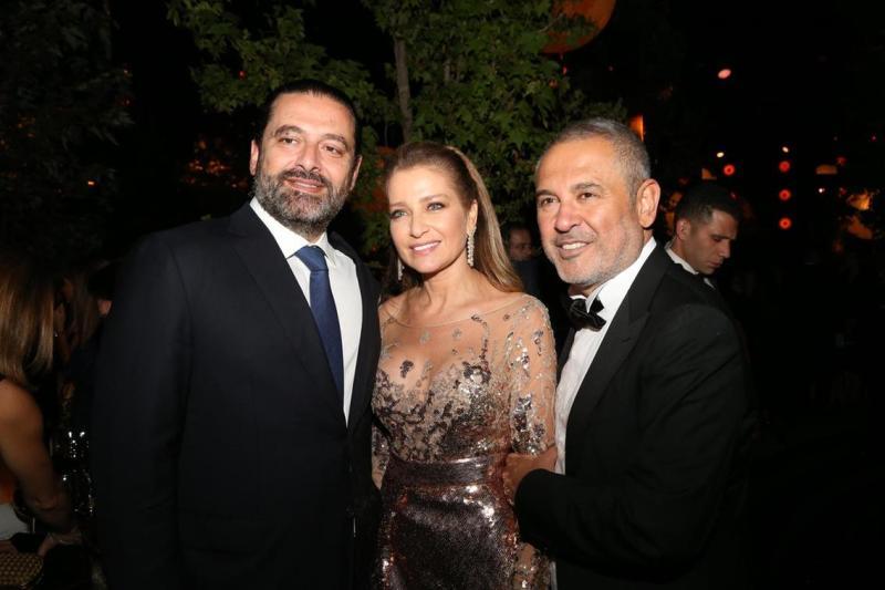 7 Saad Hariri, Claudine Saab et Elie Saab