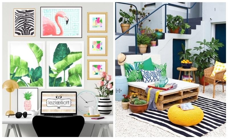 7 tropski dekor