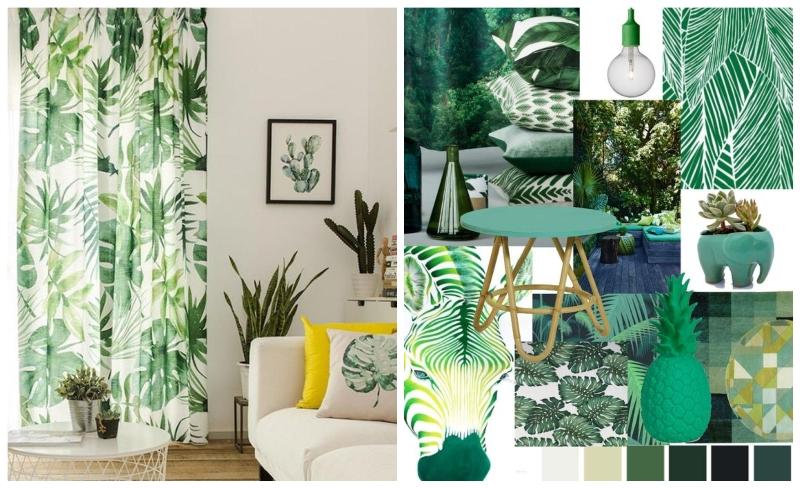 9 tropski dekor